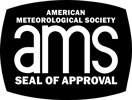American Meteorological Society Seal of Approval honoring excellence in broadcast meteorology